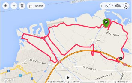 Nuoler Abendlauf 2016 - Offizielle Laufstrecke 11.80 KM