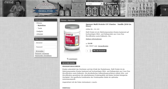 LOUM'S GENERAL STORE - sponser multi protein